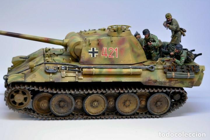 Modelos a escala: Modelo a escala 1/35 UNICO Montado y pintado - Panther A & Fallschirmjägers under fire WestFront - Foto 6 - 195330572