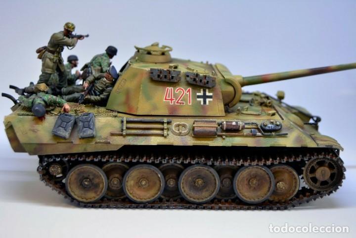 Modelos a escala: Modelo a escala 1/35 UNICO Montado y pintado - Panther A & Fallschirmjägers under fire WestFront - Foto 7 - 195330572