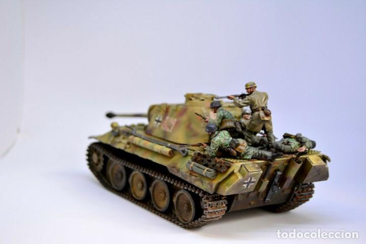 Modelos a escala: Modelo a escala 1/35 UNICO Montado y pintado - Panther A & Fallschirmjägers under fire WestFront - Foto 8 - 195330572