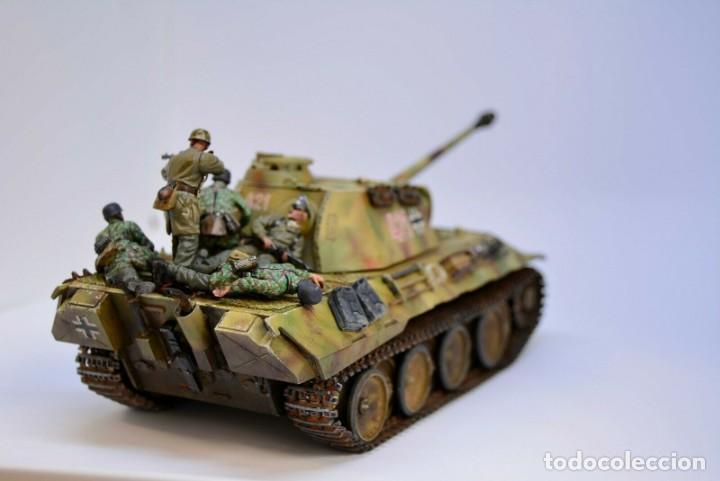 Modelos a escala: Modelo a escala 1/35 UNICO Montado y pintado - Panther A & Fallschirmjägers under fire WestFront - Foto 9 - 195330572