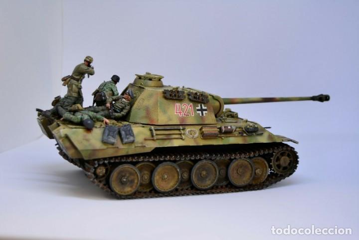 Modelos a escala: Modelo a escala 1/35 UNICO Montado y pintado - Panther A & Fallschirmjägers under fire WestFront - Foto 10 - 195330572
