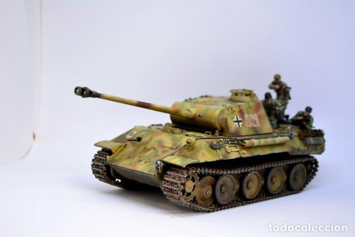 Modelos a escala: Modelo a escala 1/35 UNICO Montado y pintado - Panther A & Fallschirmjägers under fire WestFront - Foto 12 - 195330572