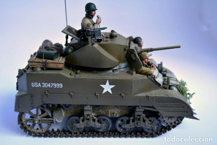 Modelos a escala: Modelo a escala 1/35 único montado y pintado - US M5A1 Light Tank 1st Division - WWII - Foto 3 - 195330720