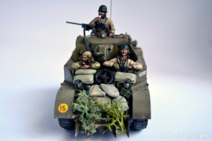 Modelos a escala: Modelo a escala 1/35 único montado y pintado - US M5A1 Light Tank 1st Division - WWII - Foto 4 - 195330720
