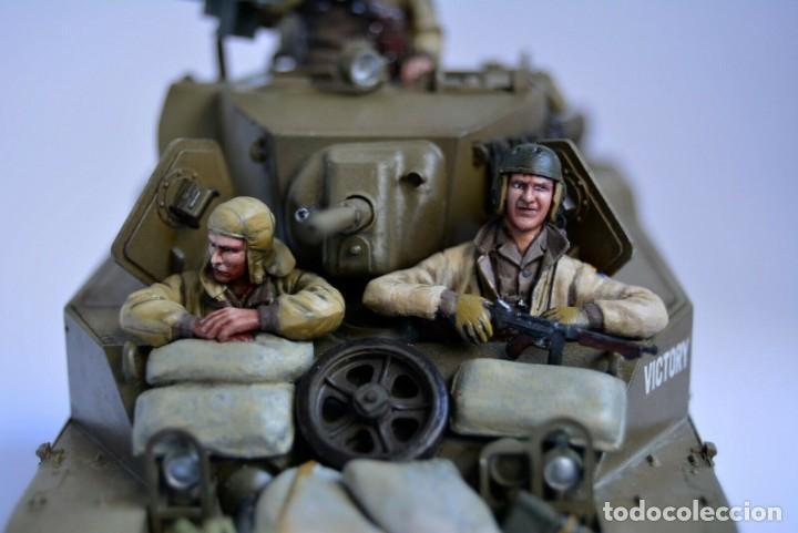 Modelos a escala: Modelo a escala 1/35 único montado y pintado - US M5A1 Light Tank 1st Division - WWII - Foto 5 - 195330720
