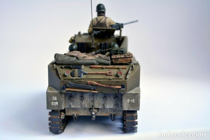 Modelos a escala: Modelo a escala 1/35 único montado y pintado - US M5A1 Light Tank 1st Division - WWII - Foto 7 - 195330720