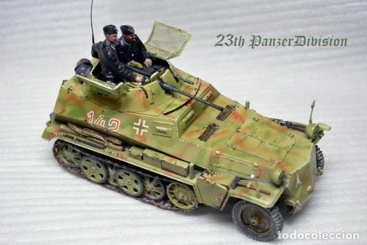 Modelos a escala: Modelo a escala 1/35 único montado y pintado -SdKfz 250/9 23th PanzerDivision Segunda Guerra Mundial - Foto 3 - 195330881