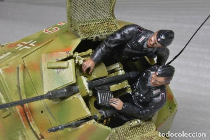 Modelos a escala: Modelo a escala 1/35 único montado y pintado -SdKfz 250/9 23th PanzerDivision Segunda Guerra Mundial - Foto 4 - 195330881