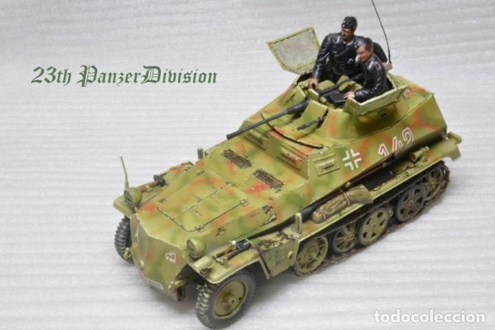 Modelos a escala: Modelo a escala 1/35 único montado y pintado -SdKfz 250/9 23th PanzerDivision Segunda Guerra Mundial - Foto 5 - 195330881