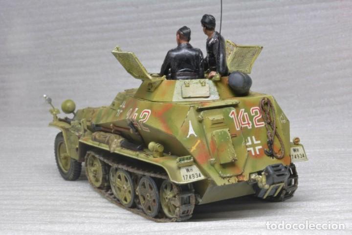 Modelos a escala: Modelo a escala 1/35 único montado y pintado -SdKfz 250/9 23th PanzerDivision Segunda Guerra Mundial - Foto 6 - 195330881