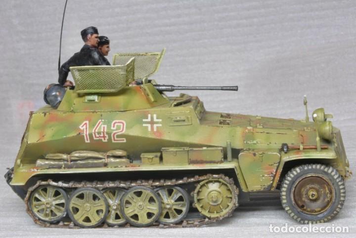 Modelos a escala: Modelo a escala 1/35 único montado y pintado -SdKfz 250/9 23th PanzerDivision Segunda Guerra Mundial - Foto 7 - 195330881
