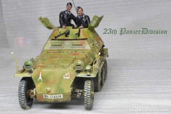 Modelos a escala: Modelo a escala 1/35 único montado y pintado -SdKfz 250/9 23th PanzerDivision Segunda Guerra Mundial - Foto 8 - 195330881