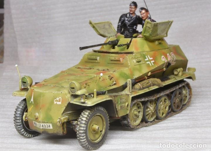 Modelos a escala: Modelo a escala 1/35 único montado y pintado -SdKfz 250/9 23th PanzerDivision Segunda Guerra Mundial - Foto 9 - 195330881