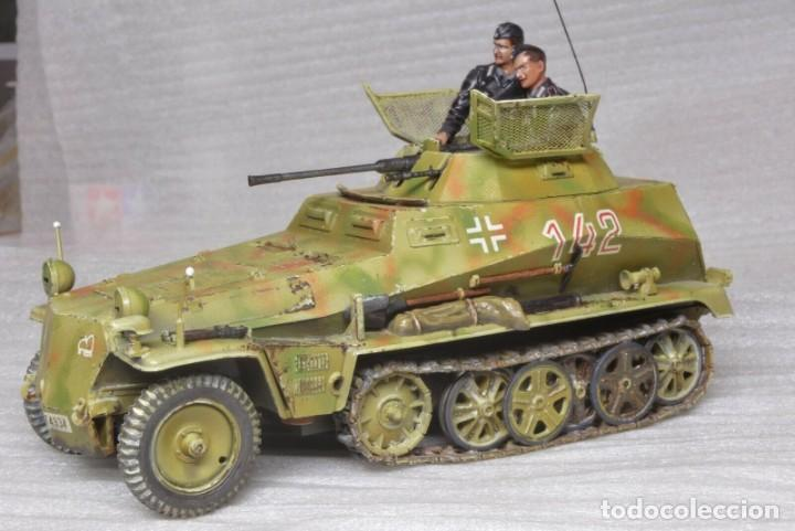 Modelos a escala: Modelo a escala 1/35 único montado y pintado -SdKfz 250/9 23th PanzerDivision Segunda Guerra Mundial - Foto 10 - 195330881