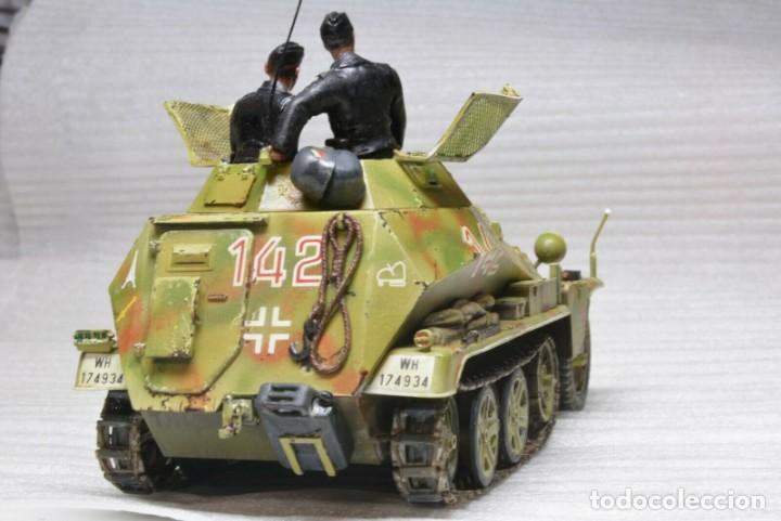 Modelos a escala: Modelo a escala 1/35 único montado y pintado -SdKfz 250/9 23th PanzerDivision Segunda Guerra Mundial - Foto 11 - 195330881