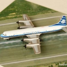 Modelos a escala: JET-X 1:400 • HISTÓRICO LOCKHEED L-188-C ELECTRA KLM ROYAL DUTCH (PH-LLD, 1.960) • METÁLICO 1/400. Lote 195429002