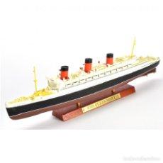Modelli in scala: RMS QUEEN MARY TRANSATLANTICO 1:1250 OCEAN LINERS BARCO ATLAS DIECAST. Lote 264728169