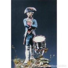 Modelli in scala: TAMBOR DEL REGIMIENTO SORIA. PENSACOLA, FLORIDA, 1781. ART GIRONA. 54 MM. Lote 201320893