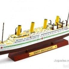 Modèles réduits: HMHS BRITANNIC TRANSATLÁNTICO 1:1250 OCEAN LINERS BARCO ATLAS DIECAST. Lote 205660980