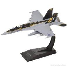Modelos a escala: F/A-18E SUPER HORNET VFA-115 EAGLES US NAVY AVION COMBATE 1:100 SALVAT DIECAST. Lote 221844127