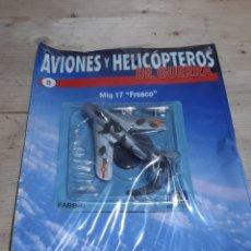 """Modelli in scala: AVION DE COMBATE FABRI AVIONES Y HELICOPTEROS DE GUERRA MODELO MIG 17 """"FRESCO"""" NUMERO 8. Lote 206229618"""