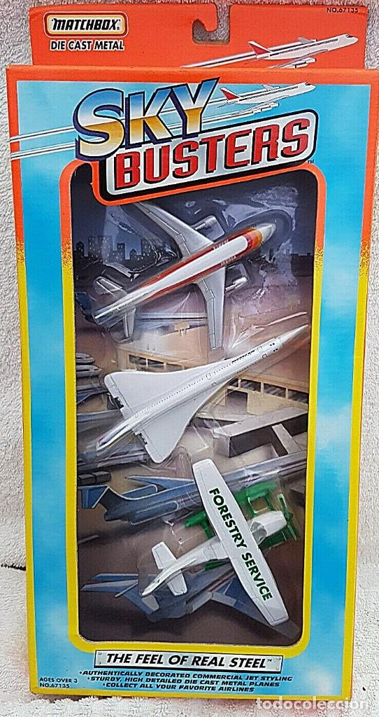 Modelos a escala: 1996 MATCHBOX SKYBUSTERS 67135 - AIRBUS A300 IBERIA - CONCORDE AIR FRANCE - HIDROAVIÓN FORESTAL - Foto 1 - 208661418
