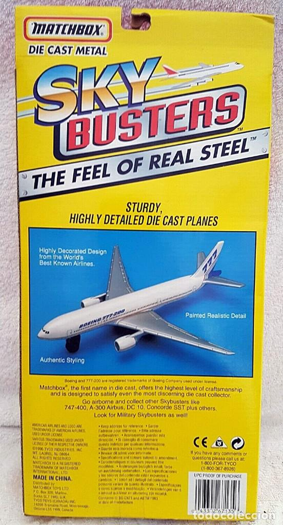 Modelos a escala: 1996 MATCHBOX SKYBUSTERS 67135 - AIRBUS A300 IBERIA - CONCORDE AIR FRANCE - HIDROAVIÓN FORESTAL - Foto 2 - 208661418