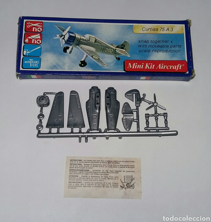 Modelos a escala: LOTE 7 AVIONES MINIATURA. KLIC WORLD. NUEVOS EN CAJA. MINI KIT AIRCRAFT. PLASTIC MODEL KIT. - Foto 3 - 209879658