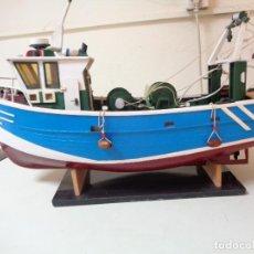 Modelos a escala: GRAN BARCO PESCA DE MADERA AÑOS 50. Lote 215927927