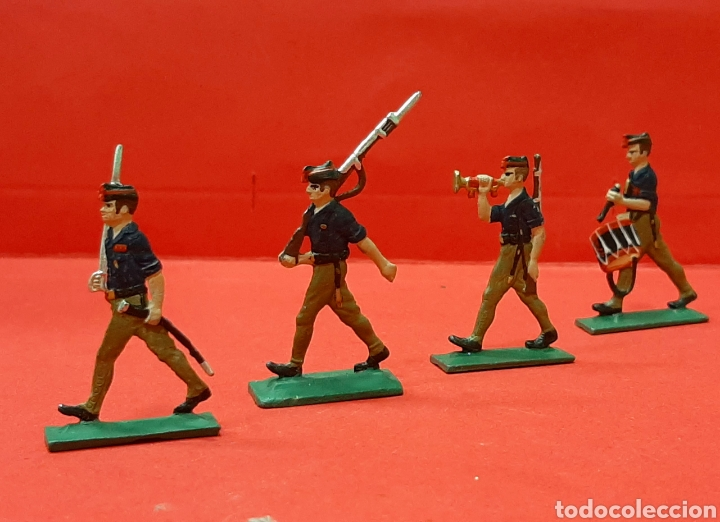Modelos a escala: FALANGE, 4 SOLDADITOS DE PLOMO EN MINIATURA. - Foto 2 - 215667002