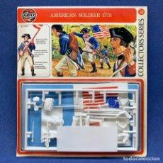 Modelos a escala: AIRFIX - AMERICAN SOLDIER 1775 Nº 01555-8 - 54MM - AÑOS 70'S - NUEVO , SIN ABRIR. Lote 221245932