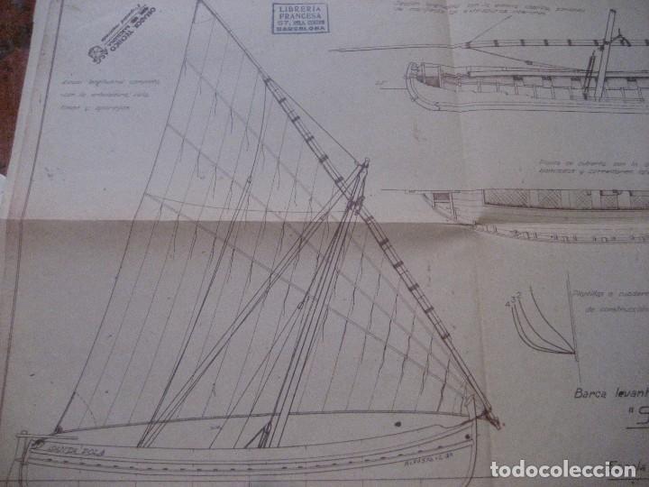 Modelos a escala: plano barca levantina santa pola ( epoca actual) -1944 obrador tecnico barcelona - Foto 2 - 223070431