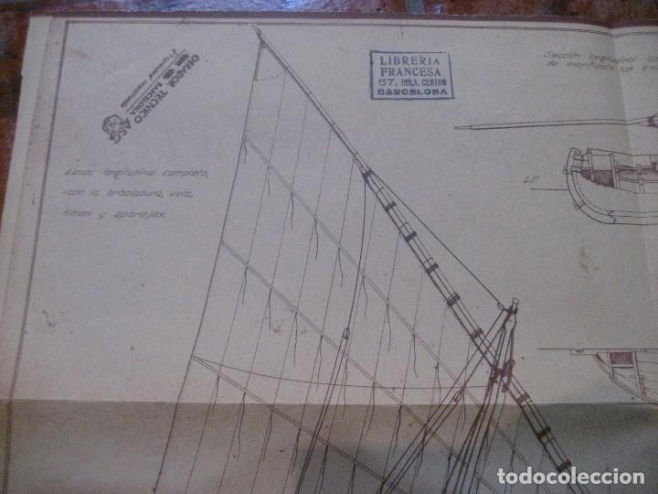 Modelos a escala: plano barca levantina santa pola ( epoca actual) -1944 obrador tecnico barcelona - Foto 3 - 223070431