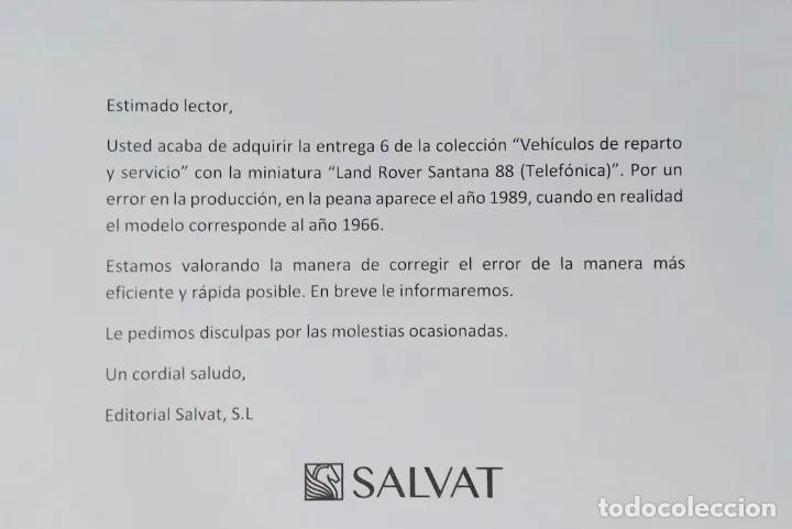 """Modelos a escala: Land Rover Santana """"Teléfonos"""", NUEVO, de la antigua CTNE, actual Telefónica. - Foto 7 - 228150415"""