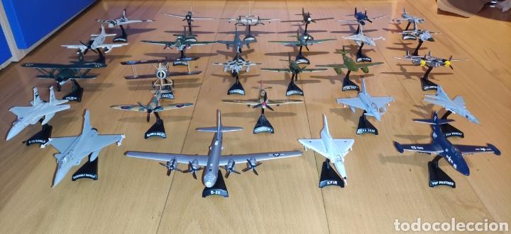 LOTE 53 AVIONES DE COMBATE EL PRADO (Juguetes - Modelos a escala)