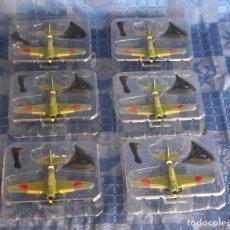 Modelos a escala: LOTE DE 6 MITSUBISHI A6M ZERO EN METAL DE LA CASA MAISTO. Lote 233169385