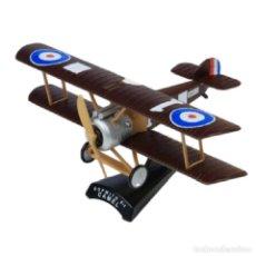 Modelos a escala: SOPWITH F-1 CAMEL 1:63 AVION DE COMBATE DEL PRADO DIECAST #018. Lote 236321875