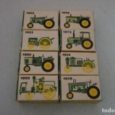 Modelos a escala: ANTIGUA COLECCIÓN ERTL 8 TRACTORES JOHN DEERE 1892-1973. COMPLETA+EXTRAORDINARIO ESTADO. PPIOS. '70S. Lote 241121860