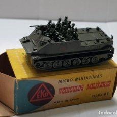 Modelos a escala: EKO VEHICULO MILITAR TRANSPORTE BTR-50 ESCALA H0 PRIMERA GENERACIÓN REF.4021 EN CAJA ORIGINAL. Lote 247217945