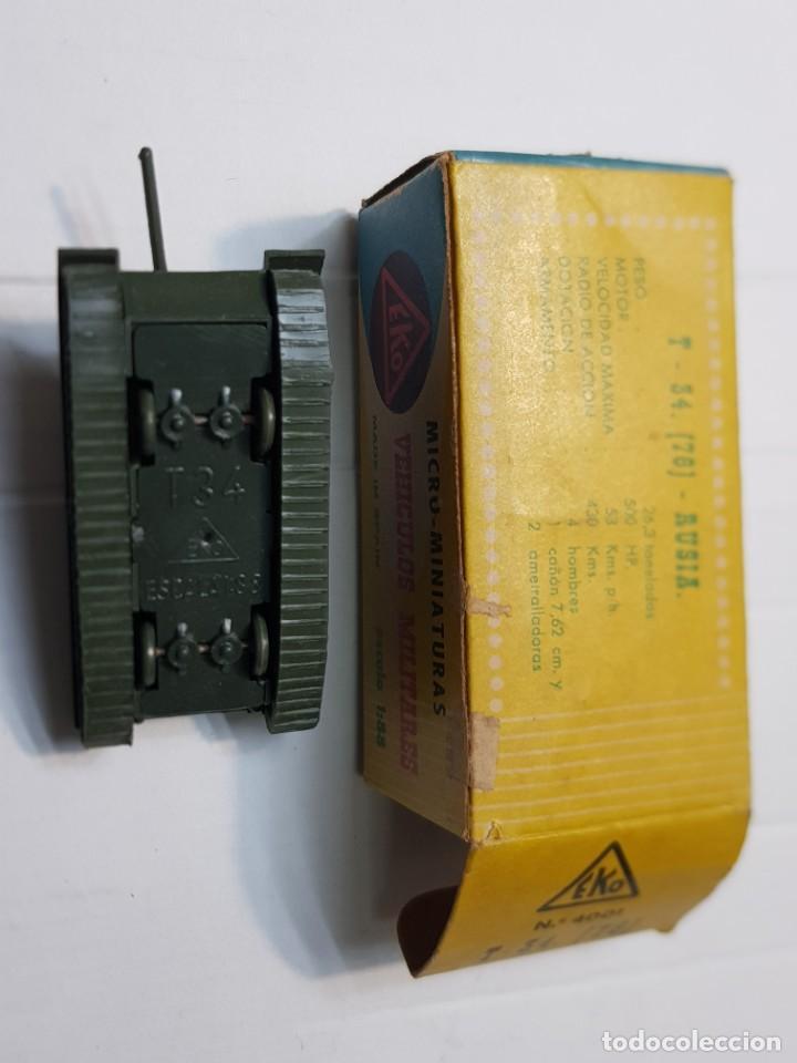 Modelos a escala: EKO VEHICULO MILITAR TANQUE T-34 RUSO escala 1:88 primera generación ref.4001 en caja original - Foto 4 - 247218685