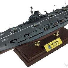 Modelos a escala: ENORME MAQUETA EN METAL DEL HMS ARK ROYAL II PORTAAVIONES, EN SU CAJA ORIGINAL PRECINTADA.. Lote 248083125