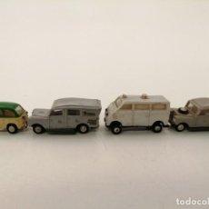 Modèles réduits: 4 COCHES MINI CARS, AMBULANCIA, TODO TERRENO Y MONOVOLUMEN. Lote 252335755