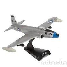 Modelos a escala: SOBERBIA MAQUETA EN METAL , MONTADA , DEL LOCKHEED P-80/F-80 SHOOTING STAR, 1:96. A ESTRENAR. Lote 252348535