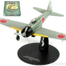 Modelos a escala: CAZA EN METAL A6M3 ZERO, PILOTADO POR HIROYOSHI NISHIZAWA, 1943, II GRAN GUERRA. EN SU CAJA, NUEVO. Lote 252479910