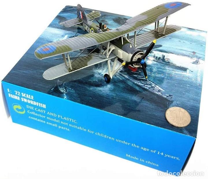 Modelos a escala: Maqueta en metal del avión de ataque TSR-I Swordfish Torpedo en edicción colecionista. A ESTRENAR - Foto 6 - 252548825