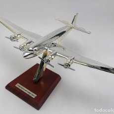 Modelos a escala: MAQUETA EN METAL CON BAÑO DE PLATA DEL FOCKE-WULF F200, 1937, A ESCALA 1:200. A ESTRENAR. Lote 252735025