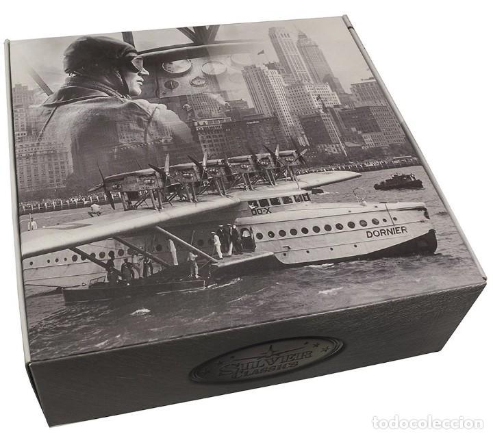 Modelos a escala: Maqueta en metal con baño de plata del Fokker F.III, 1920, a escala 1:200. A ESTRENAR - Foto 2 - 252738035