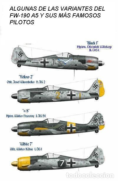 Modelos a escala: Maqueta en metal del Focke-Wulf FW 190A-5, DEFENSA DEL REICH, a escala 1:72. A ESTRENAR - Foto 8 - 252747335