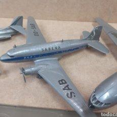 Modelos a escala: 3 AVIONES PLÁSTICO MONTADOS PASAJEROS AEROLÍNEAS AIR FRANCE,SABENA DC3,AIR ALGERIE ENVIO INCLUIDO. Lote 261355800