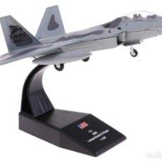Modelos a escala: AVION DE COMBATE LOCKHEED MARTIN F-22 RAPTOR - FUERZA USA (ESCALA 1:100) IXO,GUERRA, AVIONES, N18. Lote 279511843